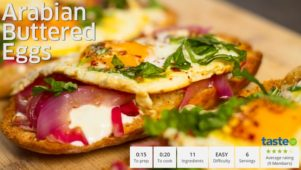 Taste.com - Arabian Buttered Eggs Concept